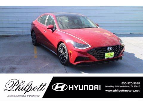 Calypso Red 2021 Hyundai Sonata Limited