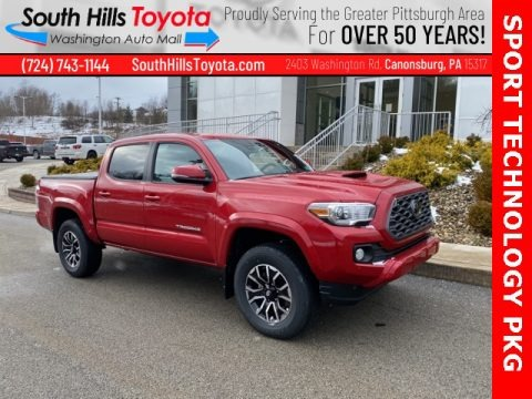 Barcelona Red Metallic 2021 Toyota Tacoma TRD Sport Double Cab 4x4