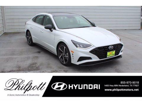 Quartz White 2021 Hyundai Sonata SEL Plus