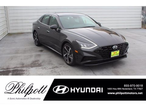 Portofino Gray 2021 Hyundai Sonata SEL Plus