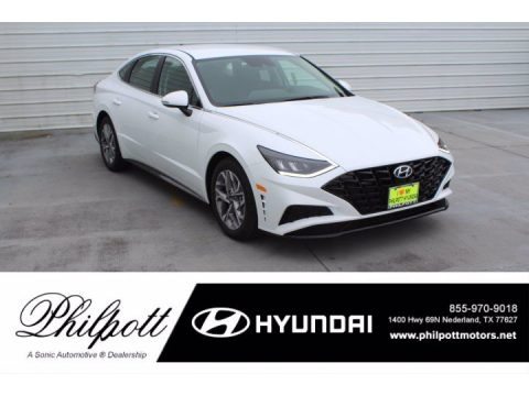 Quartz White 2021 Hyundai Sonata SEL