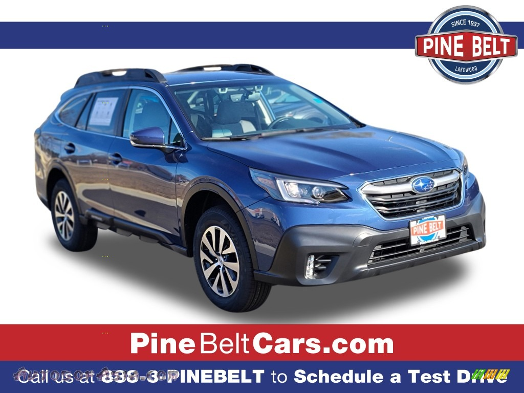 2021 Outback 2.5i Premium - Abyss Blue Pearl / Gray photo #1