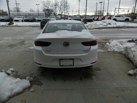 Snowflake White Pearl Mica 2021 Mazda Mazda3 2.5 S Sedan