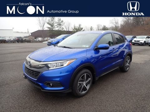 Aegean Blue Metallic 2021 Honda HR-V EX AWD