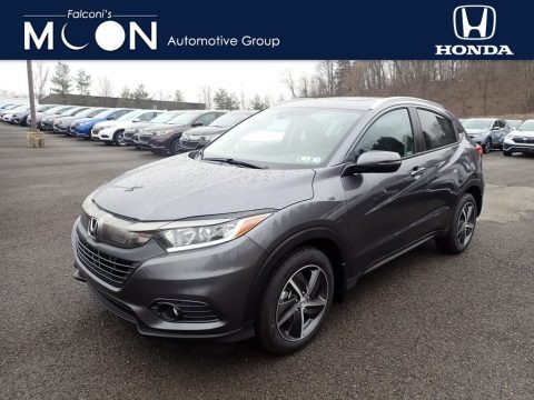 Modern Steel Metallic 2021 Honda HR-V EX AWD
