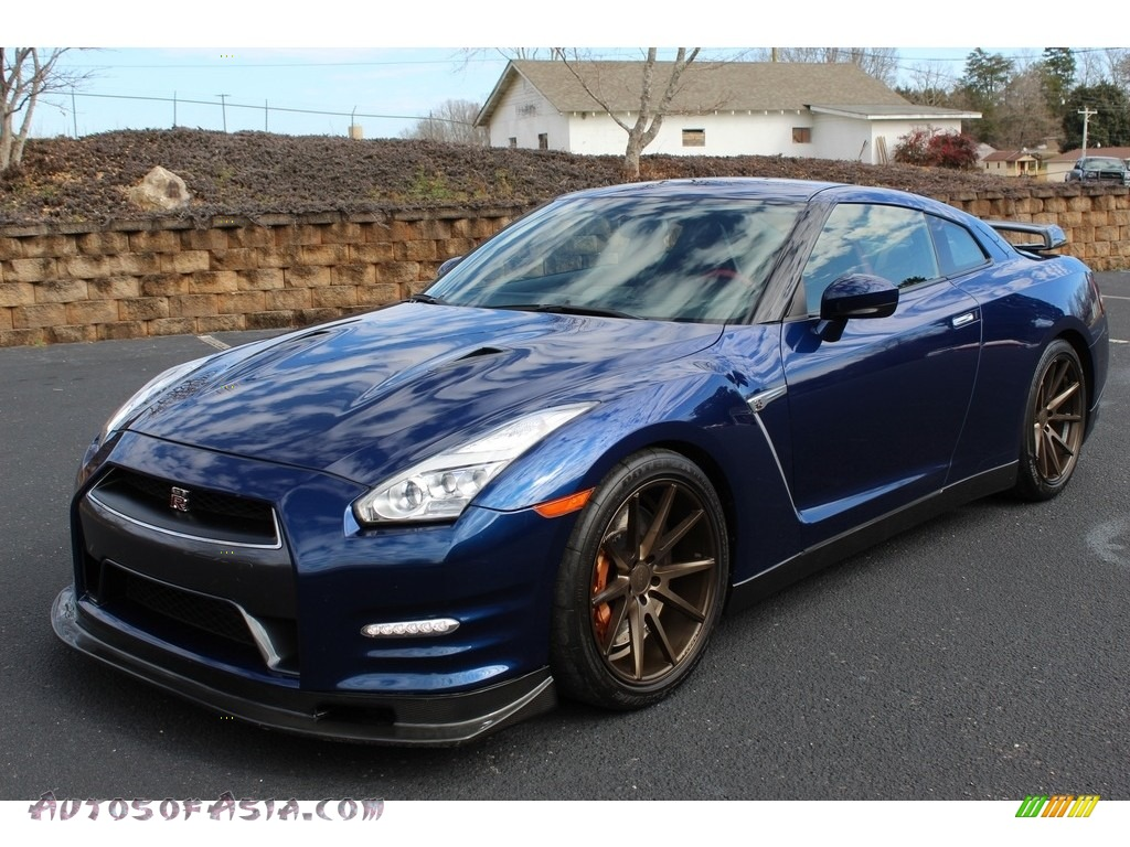 2015 GT-R Premium - Deep Blue Pearl / Black photo #2