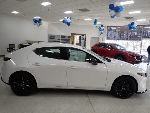Snowflake White Pearl Mica 2021 Mazda Mazda3 Premium Plus Hatchback AWD