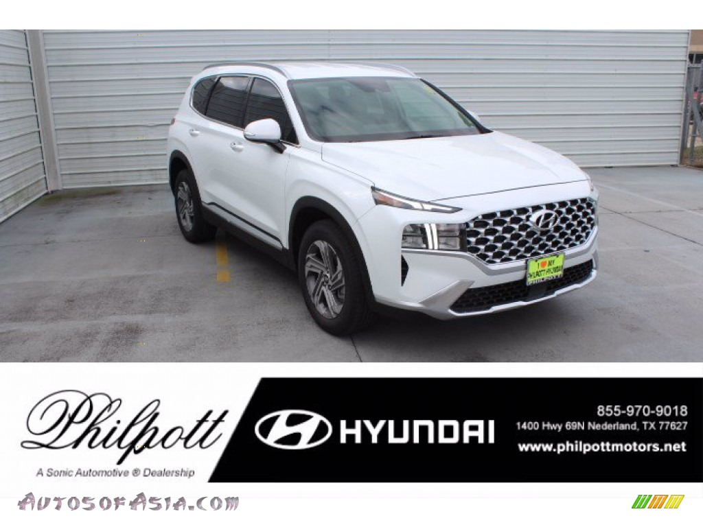 2021 Santa Fe SEL - Quartz White / Black photo #1