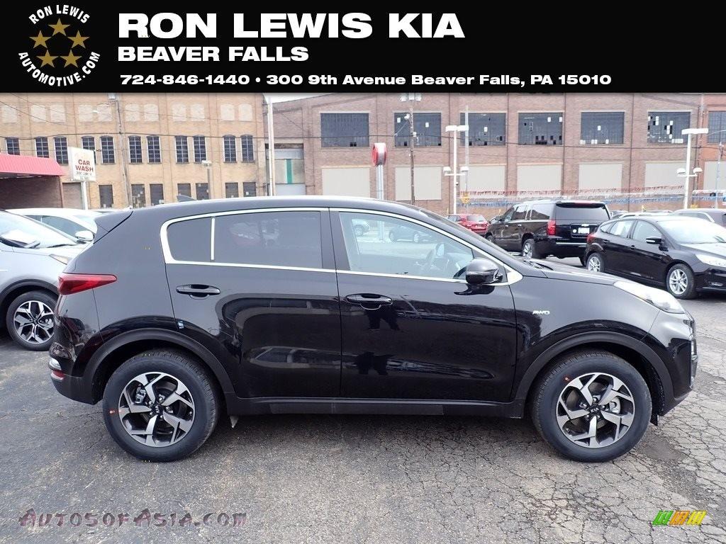 2021 Sportage LX AWD - Black Cherry / Black photo #1