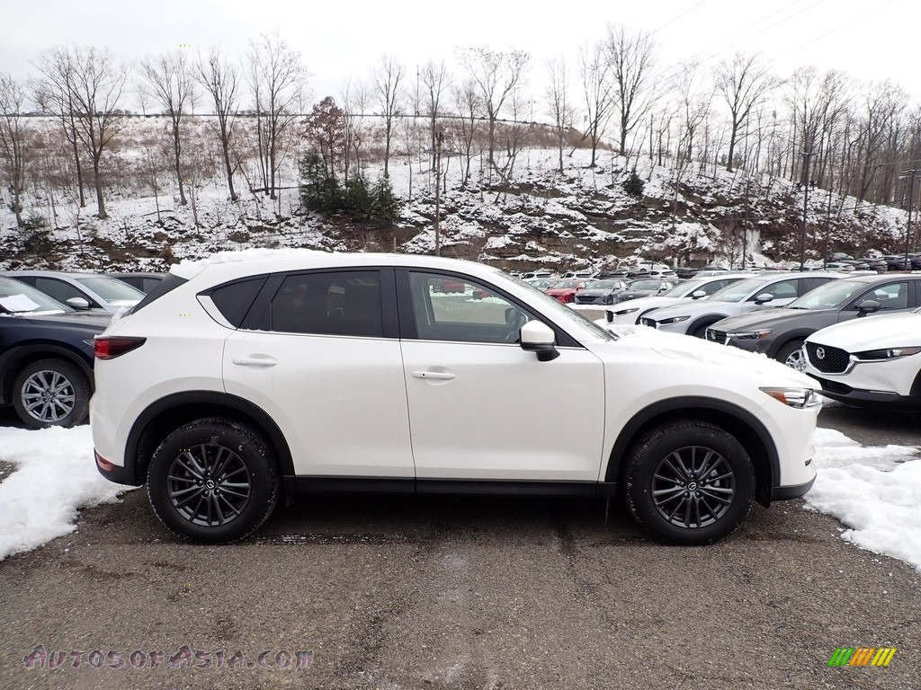 2021 CX-5 Touring AWD - Snowflake White Pearl Mica / Black photo #1