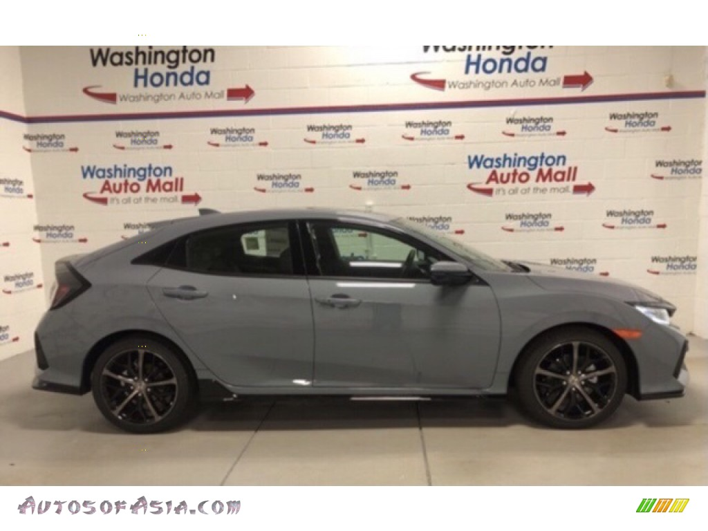 2021 Civic Sport Hatchback - Sonic Gray Pearl / Black photo #1