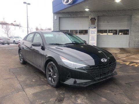 Phantom Black 2021 Hyundai Elantra SEL