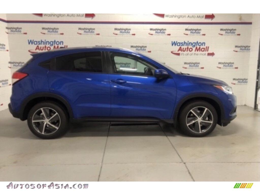 2021 HR-V EX AWD - Aegean Blue Metallic / Black photo #1