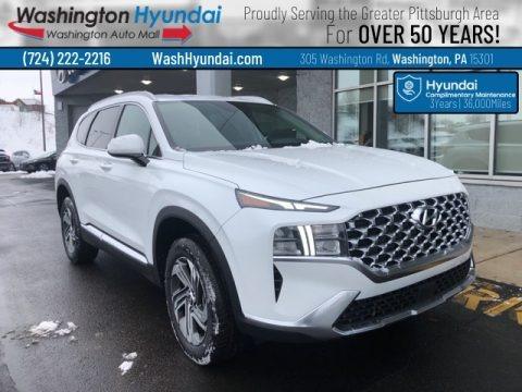 Quartz White 2021 Hyundai Santa Fe SEL AWD