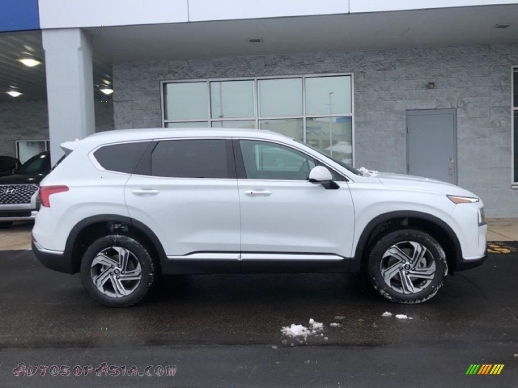 2021 Santa Fe SEL AWD - Quartz White / Black photo #2