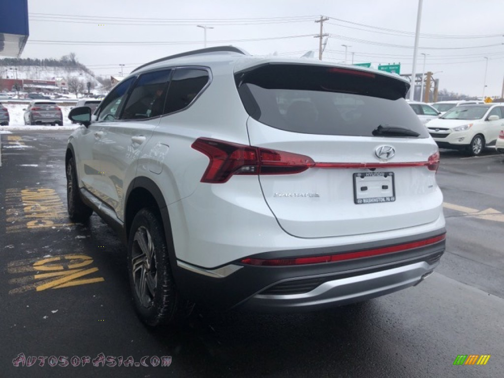 2021 Santa Fe SEL AWD - Quartz White / Black photo #3