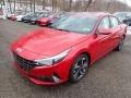 Hyundai Elantra Limited Scarlet Red Pearl photo #5
