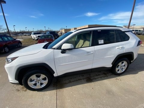 Super White 2021 Toyota RAV4 XLE AWD