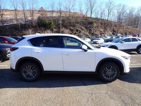 Snowflake White Pearl Mica 2021 Mazda CX-5 Touring AWD