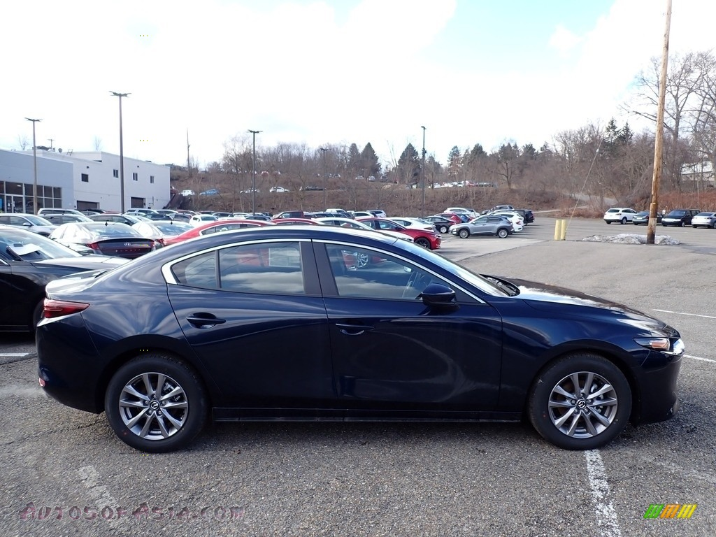 2021 Mazda3 2.5 S Sedan - Deep Crystal Blue Mica / Black photo #1