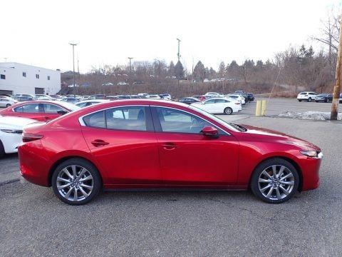 Soul Red Crystal Metallic 2021 Mazda Mazda3 Select Sedan AWD
