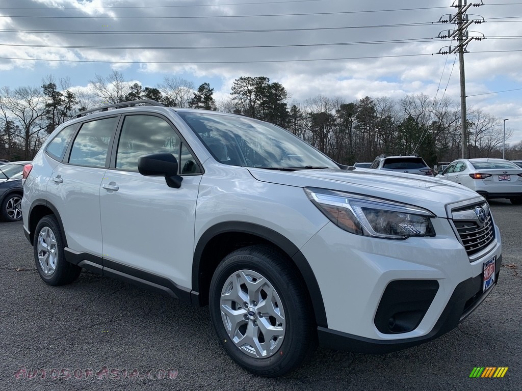 2021 Forester 2.5i - Crystal White Pearl / Black photo #1