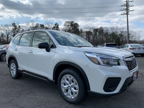 Crystal White Pearl 2021 Subaru Forester 2.5i