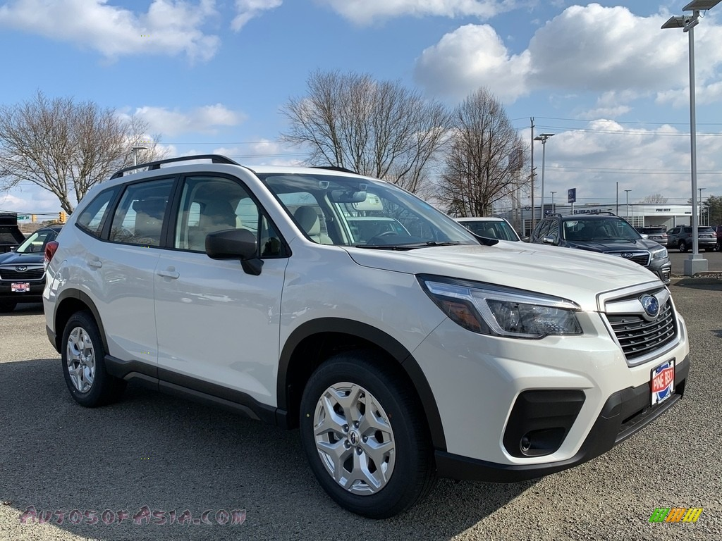 2021 Forester 2.5i - Crystal White Pearl / Gray photo #1
