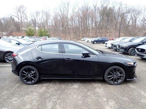Jet Black Mica 2021 Mazda Mazda3 Premium Plus Hatchback AWD