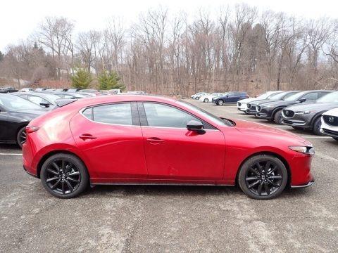 Soul Red Crystal Metallic 2021 Mazda Mazda3 Premium Plus Hatchback AWD