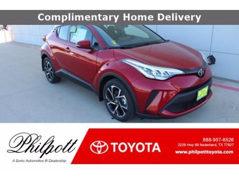 Supersonic Red 2021 Toyota C-HR XLE