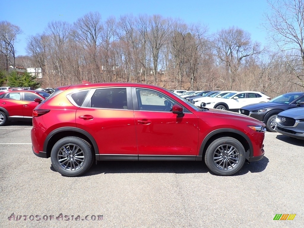 2021 CX-5 Touring AWD - Soul Red Crystal Metallic / Parchment photo #1