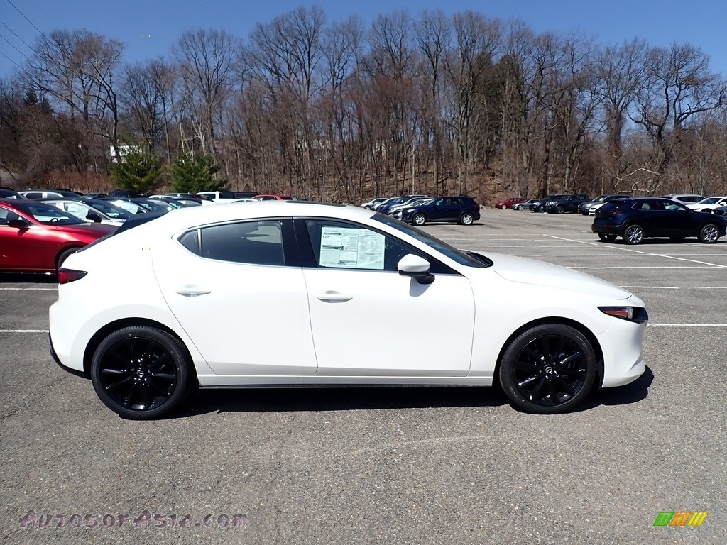 2021 Mazda3 Premium Hatchback AWD - Snowflake White Pearl Mica / Black photo #1