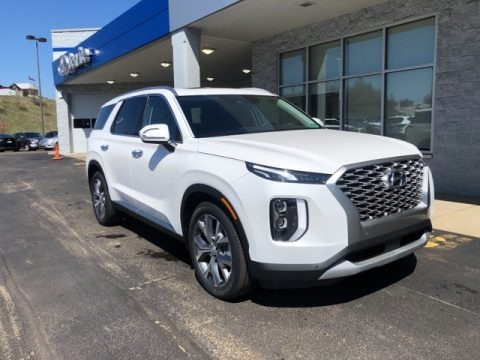 Hyper White 2021 Hyundai Palisade SEL AWD
