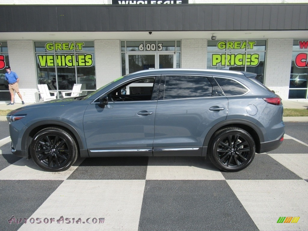 2021 CX-9 Carbon Edition - Polymetal Gray / Red photo #1