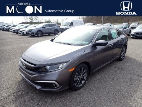 Modern Steel Metallic 2021 Honda Civic EX Sedan