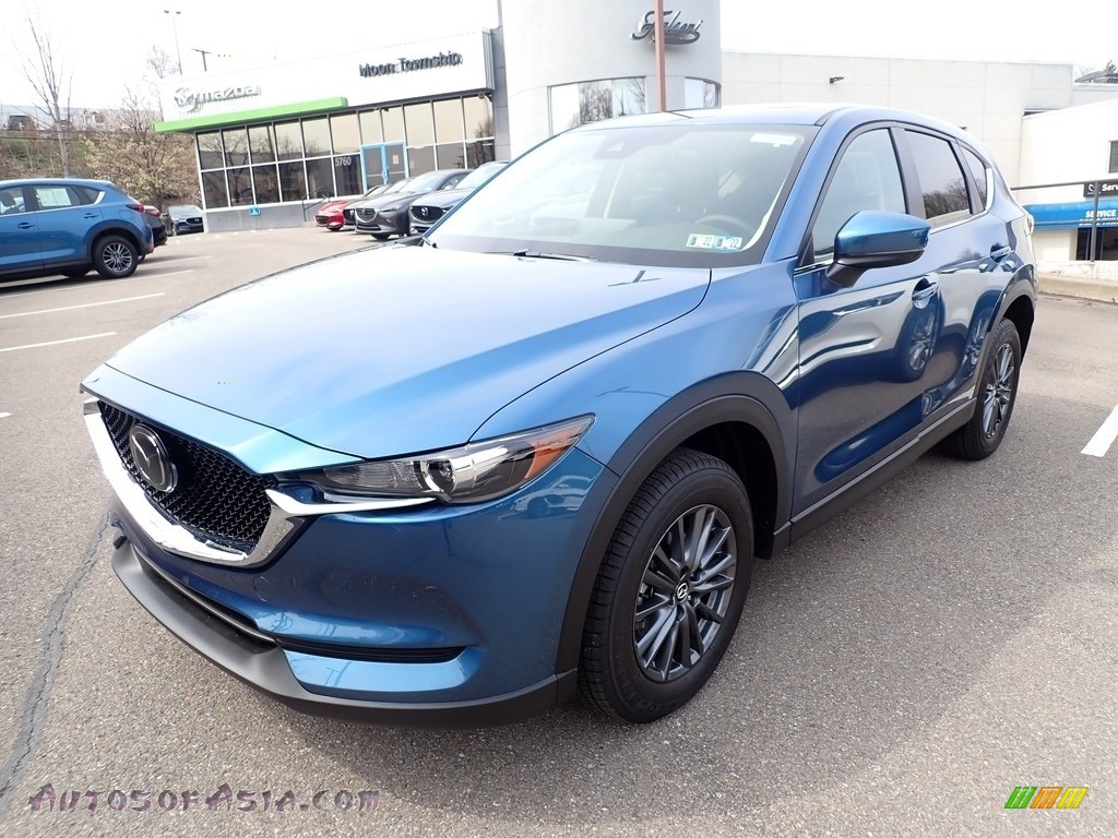 2021 CX-5 Touring AWD - Eternal Blue Mica / Black photo #5