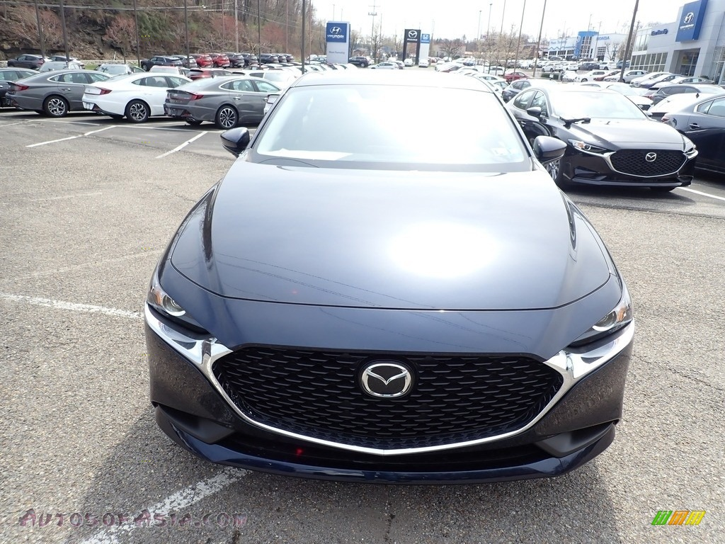 2021 Mazda3 2.5 S Sedan - Deep Crystal Blue Mica / Black photo #4