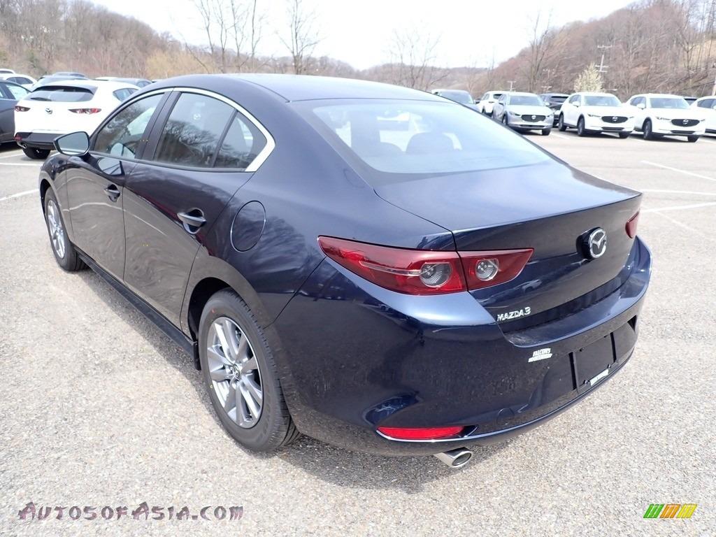 2021 Mazda3 2.5 S Sedan - Deep Crystal Blue Mica / Black photo #6