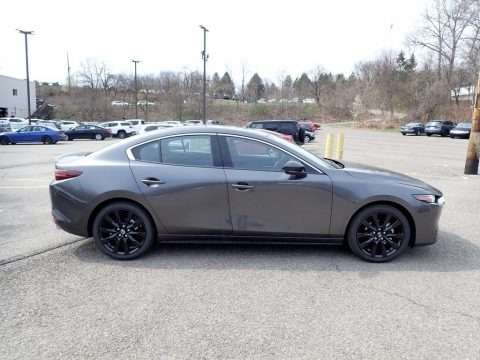 Machine Gray Metallic 2021 Mazda Mazda3 Premium Plus Sedan AWD
