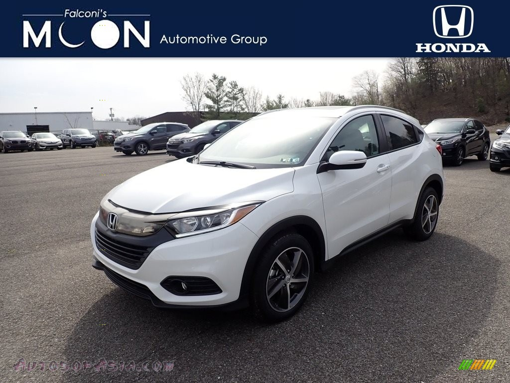 2021 HR-V EX AWD - Platinum White Pearl / Gray photo #1