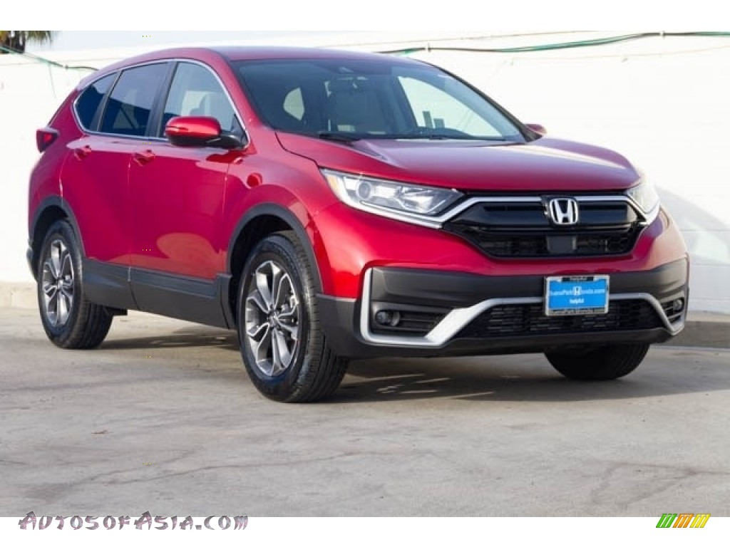 Radiant Red Metallic / Gray Honda CR-V EX