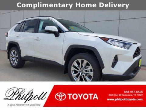 Blizzard White Pearl 2021 Toyota RAV4 XLE Premium