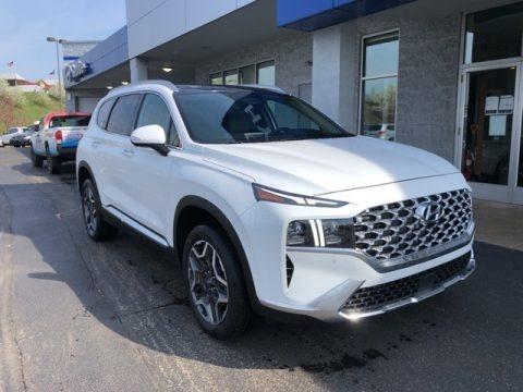 Quartz White 2021 Hyundai Santa Fe Limited AWD