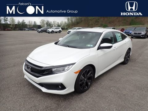Platinum White Pearl 2021 Honda Civic Sport Sedan