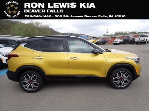 Starbright Yellow 2021 Kia Seltos SX Turbo AWD