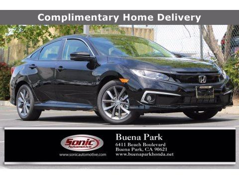 Crystal Black Pearl 2021 Honda Civic EX-L Sedan
