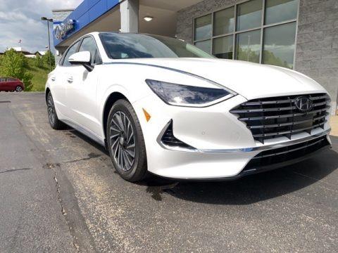 Hyper White 2021 Hyundai Sonata Limited Hybrid