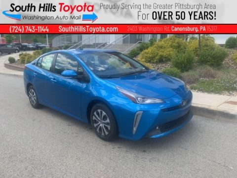 Electric Storm Blue 2021 Toyota Prius XLE AWD-e