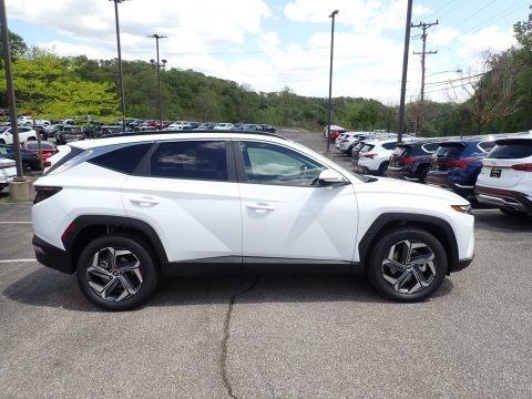 Quartz White 2022 Hyundai Tucson SEL Convienience Hybrid AWD